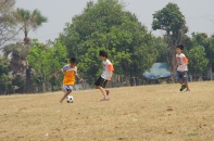 サッカーも一緒にしました